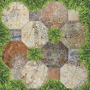 Gạch lát sân vườn 40x40 Prime 9252 vân giả cỏ
