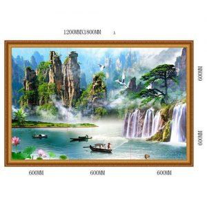 Gạch tranh trang trí HD 015 (1200x1800mm)