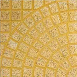 Gạch lát vỉa hè rẻ quạt màu vàng