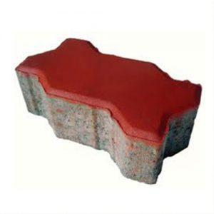 Gạch lát vỉa hè tự chèn block ziczac màu đỏ