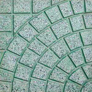 Gạch lát vỉa hè rẻ quạt màu xanh