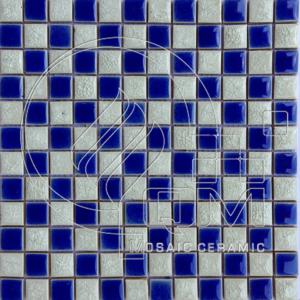 Gạch gốm sứ mosaic Bát Tràng QM23-CARO