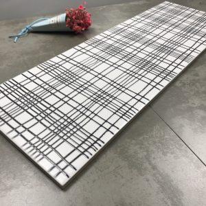Gạch thẻ thiết kế sọc trắng đen bóng phẳng 200*600mm M2060-1